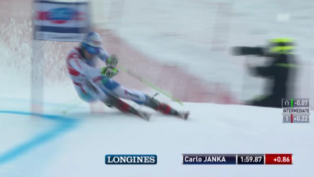 Video «Ski: Riesenslalom Lenzerheide, Die Fahrt von Carlo Janka («sportlive», 15.03.2014)» abspielen
