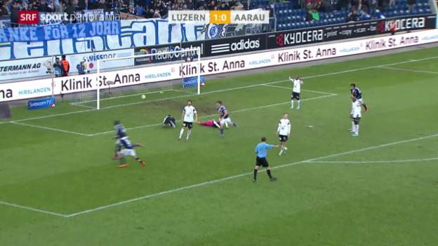 Video «Spielbericht Luzern - Aarau («sportpanorama»)» abspielen
