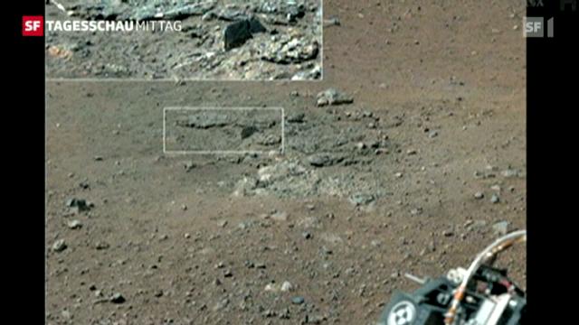 Curiosity findet Beweise für Wasser auf dem Mars (Tagesschau vom 28.9.12, 12:45 Uhr)