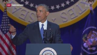 Video «Barack Obamas emotionaler Abschied» abspielen