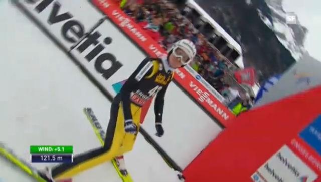 Skispringen: 1. Sprung Simon Ammann («sportlive»)