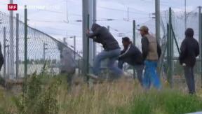 Video «Noch keine Ordnung in Calais» abspielen