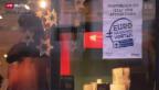 Video «FOKUS: Tiefere Preise durch Euro-Rabatte» abspielen