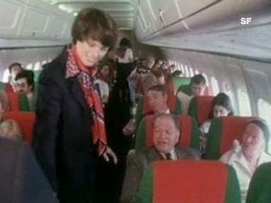 Traumberufe: Stewardess und Flight Attendant bei der Swissair