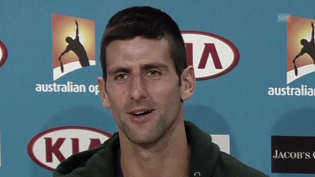 Novak Djokovic vor dem Final gegen Murray.