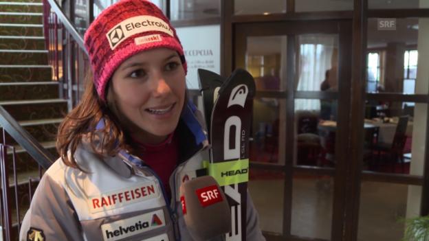 Video «Holdener nach Rennabbruch in Maribor: «Schade, Wäre bereit gewesen um anzugreifen»» abspielen