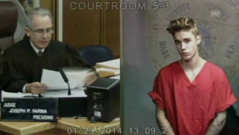 Justin Bieber vor Gericht (Originalton auf Englisch)