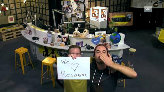 Video «Bye, bye Rosanna - wir wünschen dir von Herzen gute Besserung!» abspielen