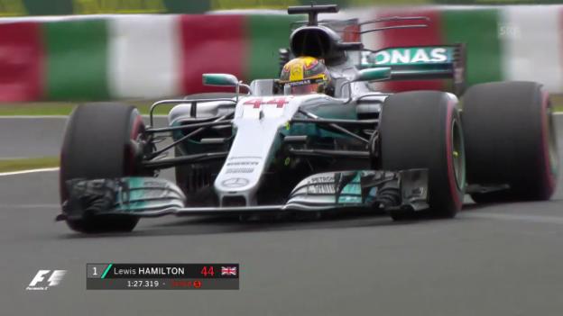 Video «So holte Hamilton die Pole» abspielen