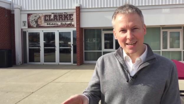 Video «SRF-Korrespondent von Grünigen berichtet aus Iowa» abspielen