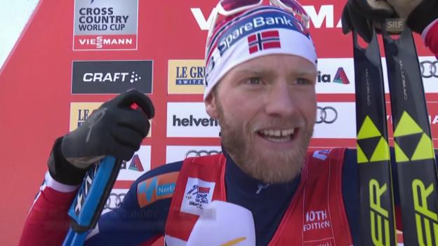 Video «Langlauf: Tour de Ski, Interview mit Martin Johnsrud Sundby» abspielen