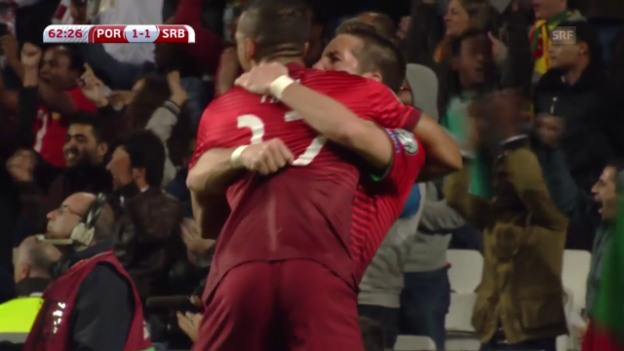 Video «Fussball: EM-Qualifikation 2016, Gruppe I, Portugal - Serbien» abspielen