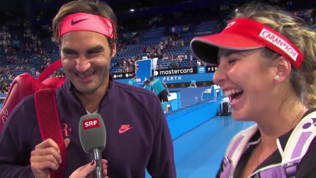 Video «Federer: «Für uns Männer ist es auch nicht einfach»» abspielen