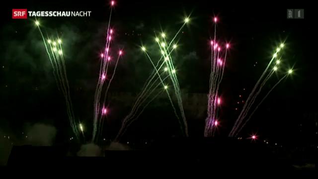 Basler Feuerwerk zum Nationalfeiertag