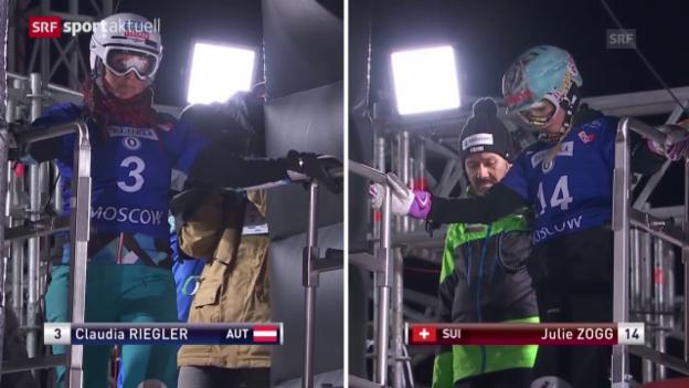 Video «Snowboard: Zogg und Kummer auf dem Podest» abspielen
