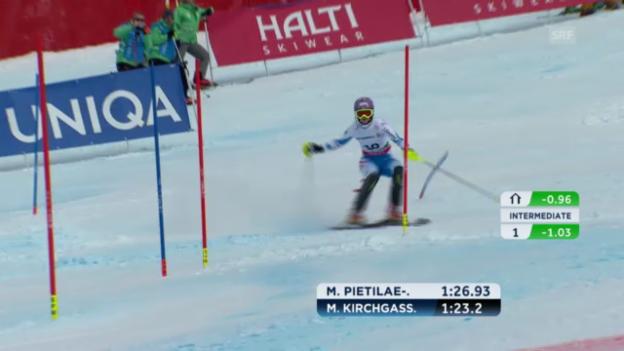 Video «WM-Slalom: 2. Lauf Kirchgasser» abspielen