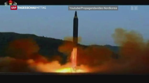Video «Pjöngjang droht mit Raketenangriff» abspielen