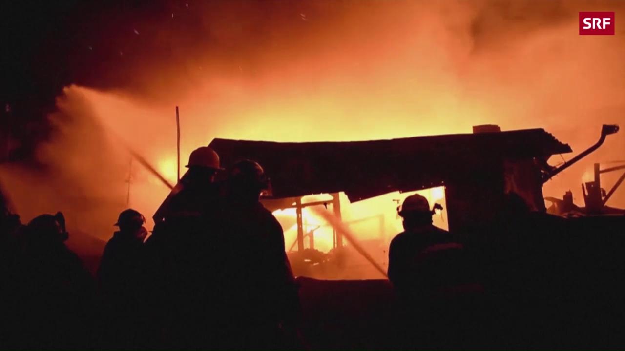 Flammeninferno in Manila