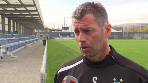Video «Skibbe: Erwartungen ans Spiel gegen Zürich» abspielen