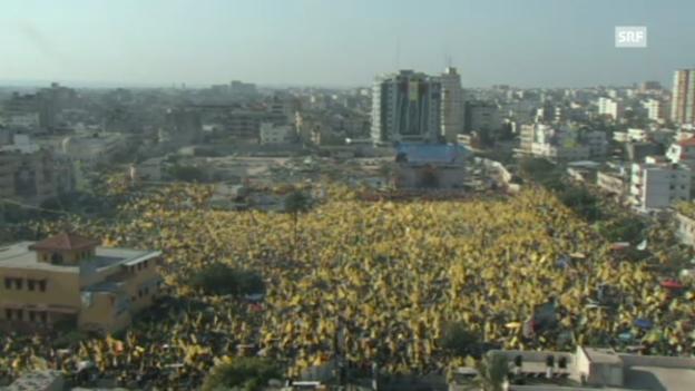 Video «Fatah feiert im Gazastreifen (unkomm.)» abspielen