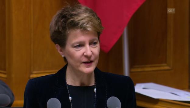 Video «Bundesrätin Sommaruga: «Initianten waren auch in Arbeitsgruppe»» abspielen