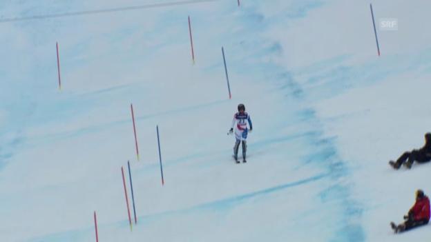 Video «Ski-WM: Kombi-Slalom von Lara Gut» abspielen