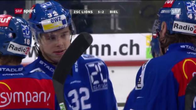 Video «NLA: ZSC L. - Biel («sportaktuell»)» abspielen