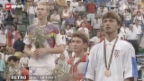 Video ««Retro» mit Beni – Tonpanne während der Siegerehrung von Marco Rosset bei Olympia 1992» abspielen
