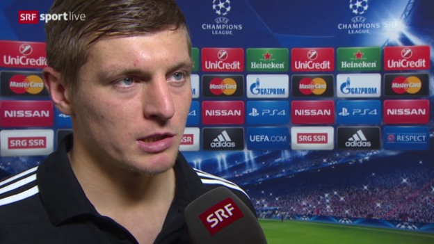 Video «Fussball: Champions League, Basel - Real Madrid, Interview mit Toni Kroos» abspielen