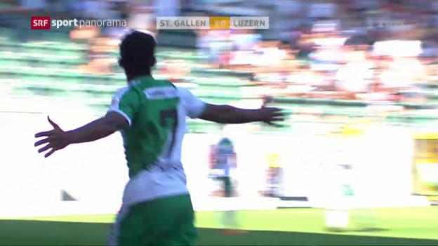 Video «St. Gallen überzeugt gegen Luzern» abspielen