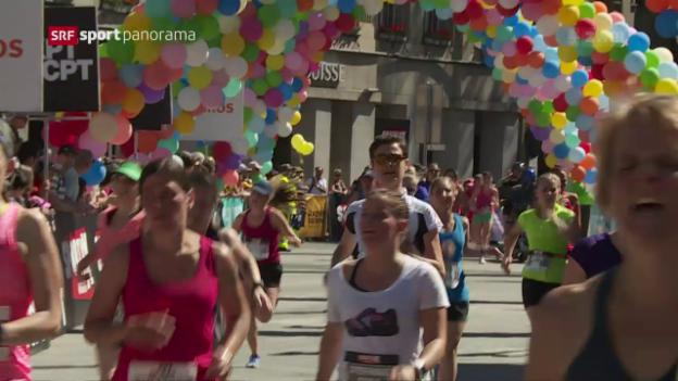 Video «Fabienne Schlumpf gewinnt Frauenlauf in Bern» abspielen