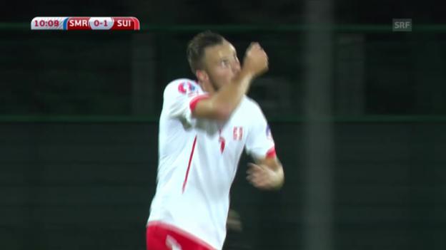 Video «Fussball: EM-Qualifikation, San Marino - Schweiz» abspielen