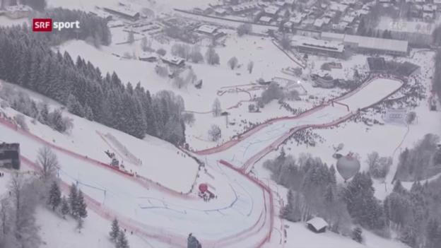 Video «Super-G der Männer in Kitzbühel («sportaktuell»)» abspielen