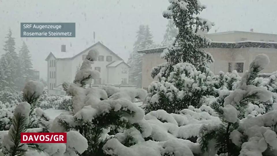 Vor knapp 1 Jahr: Neuschnee am Morgen vom 26. September 2020