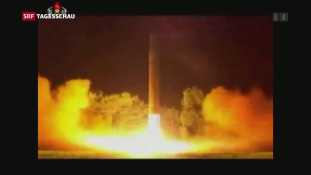 Video «Reaktion auf Nordkoreas Raketentest» abspielen
