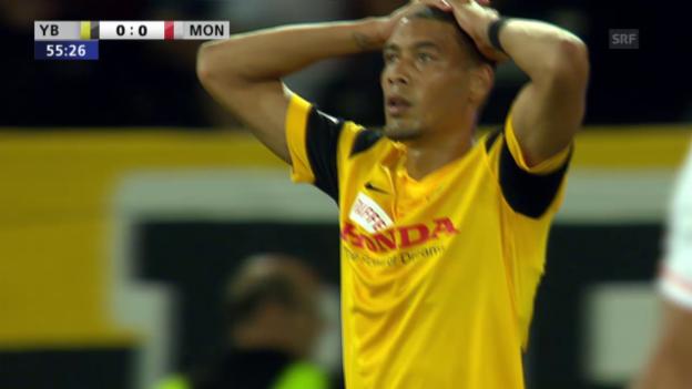 Video «Fussball: Champions-League-Qualifikation, Hinspiel, YB - Monaco, Hoarau vergibt Grosschance» abspielen