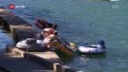 Video «Mit dem Gummi-Boot den Fluss hinunter» abspielen