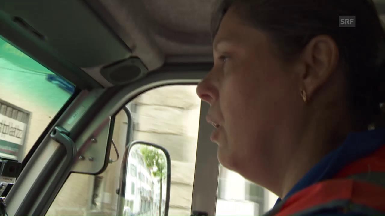 Strassenputzerin Maria Cardoso sieht sich als Gast