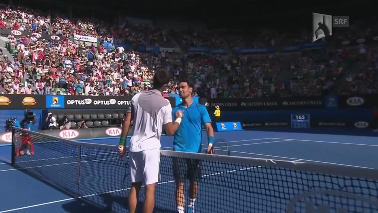Tennis: Australian Open, Achtelfinal, Djokovic-Fognini