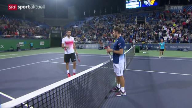 Video «Tennis: Wawrinka in Schanghai im Viertelfinal» abspielen