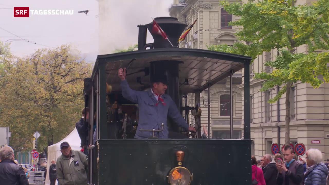 Jubiläum auf Tramgleisen
