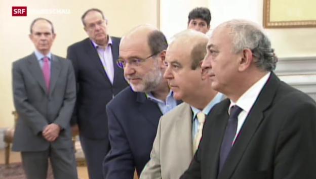 Video «Neue Minister in Griechenland vereidigt» abspielen