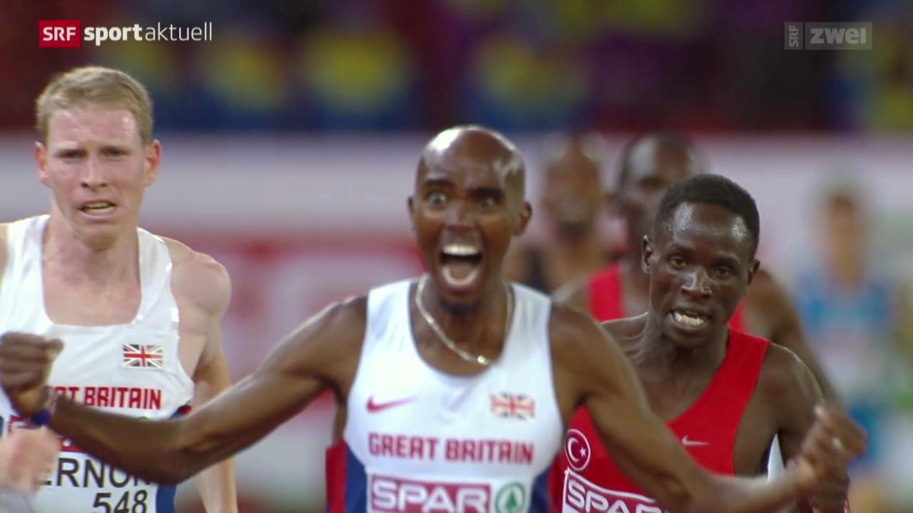 Leichtathletik: Mo Farah Europameister über 10'000 m
