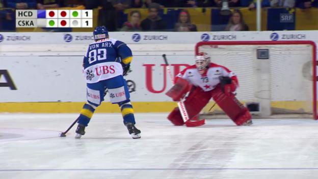Video «Eishockey: Spengler Cup, Penaltyschiessen Davos - Moskau» abspielen