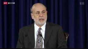 Video «US-Notenbank kürzt Konjunkturprogramm» abspielen