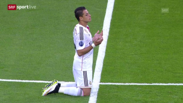 Video «Fussball: Champions League, Real Madrid - Atletico Madrid, die besten Szenen von Chicharito» abspielen