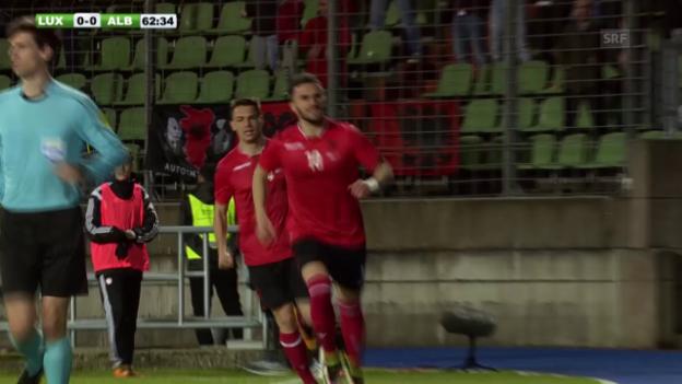 Video «Sadiku trifft: Albanien bezwingt Luxemburg mit 2:0» abspielen