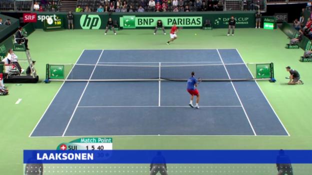 Video «Tennis: Gstaad-Wildcard für Laaksonen» abspielen