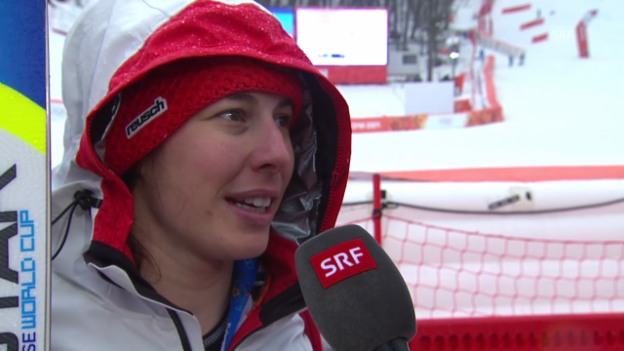 Video «Ski: Riesenslalom Frauen, Interview mit Dominique Gisin (sotschi direkt, 18.2.2014)» abspielen