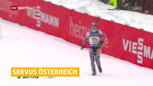 Video «Österreicherinnen mit Missgeschick – Deutsche jubeln» abspielen